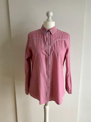 Asos Blouse pink-white cotton
