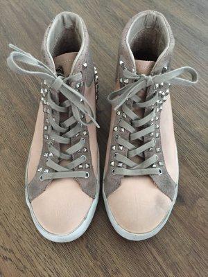 Rosafarbene Sneakers von Crime mit Nieten