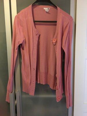 rosafarbene Strickjacke von H&M
