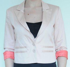 rosafarbener Blazer mit Ärmelaufschlag in Koralle