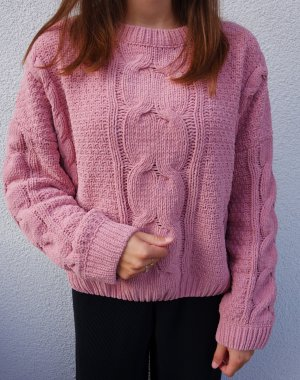 Urban Outfitters Pull à gosses mailles rose