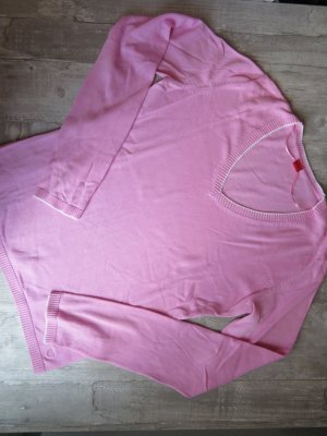 Rosafarbener Feinstrickpullover von Esprit