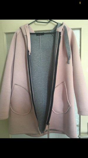 Manteau court rose clair-vieux rose