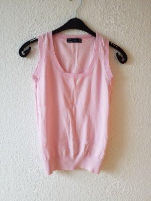 rosafarbener Pullunder Kurzam Pullover