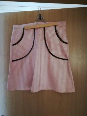 Mini-jupe rose chair-brun noir coton