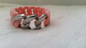 Rosafarbenes Armband mit Silber