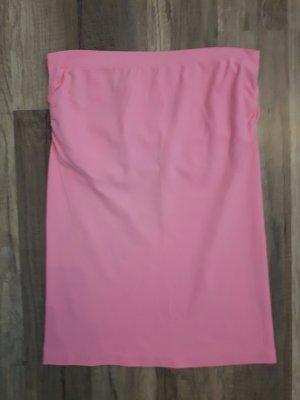 rosafarbenes/ pinkes Bandeautop mit Einsatz
