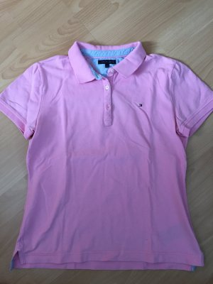 Rosafarbenes Polo Shirt von Tommy Hilfiger in Größe L
