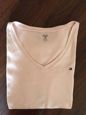 Rosafarbenes T-Shirt von Tommy Hilfiger in Größe XL