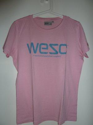 Rosafarbenes T-Shirt von wesc