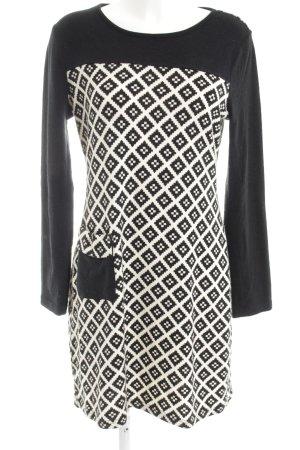 Rosalita MCGee Abito maglione nero-bianco stampa integrale stile casual