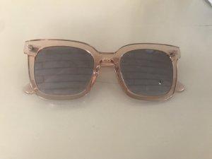 H&M Hoekige zonnebril stoffig roze