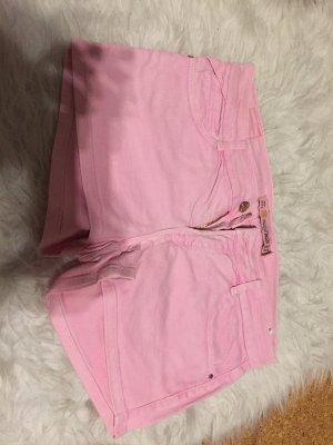 Zara Pantalón corto de tela vaquera rosa claro-rosa