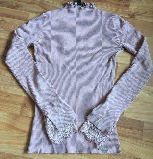 Rosaner Asos  Lipsy Pulli Pullover spitze pink S 36 einmal getragen Lace