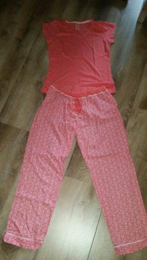 Jolinesse Pyjama zalm-wit