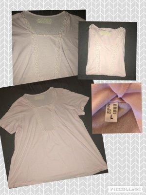 Camiseta rosa empolvado