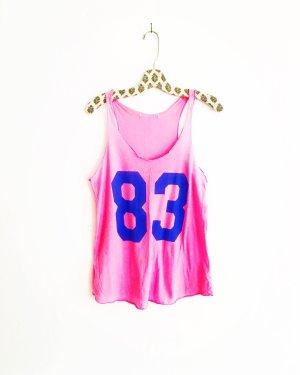 rosarotes tank top / number shirt / vintage / pink / neon / oversized / 90s