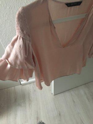 Rosé / Altrosa farbenes Oberteil von Zara