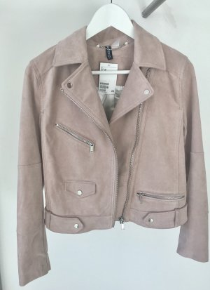 H&M Faux Leather Jacket multicolored imitation leather