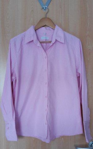 Rose Bluse mit weißen Streifen