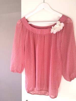 rose´Bluse pinke Sommerbluse Chiffonbluse Gr. 38