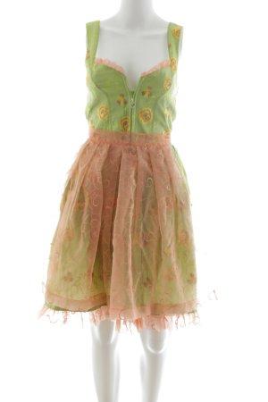 Rose Dirndl Dirndl green-light orange allover print elegant
