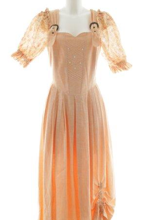Rose Dirndl Dirndl arancione chiaro stile festa