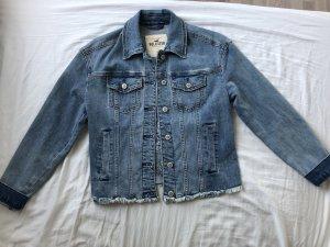 Rose embroierd Jeans Jacke Hollister
