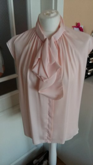Mango Tie-neck Blouse pink material label was removed