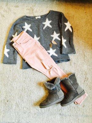 Rose farbene Jeans mit Löchern S 36 H&M wie Neu!!