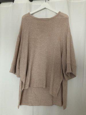 Rosè farbener oversized T-Shirt Pulli von ZARA Collection in S