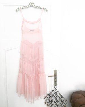 rosé farbenes chiffon kleid / vintage / boho / hippie / romantic / festival