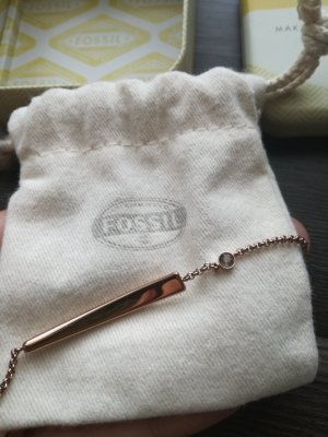 Rosé-farbenes FOSSIL Armband