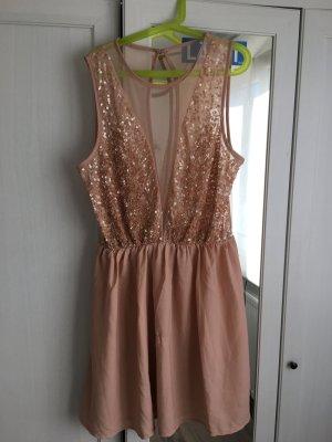 Rosé Farbenes kurzes kleid