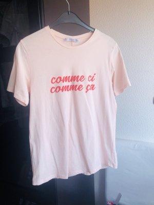 Rosé-farbenes T-Shirt, Mango