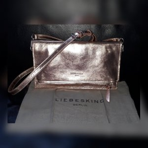 Liebeskind Crossbody bag dusky pink-rose-gold-coloured leather