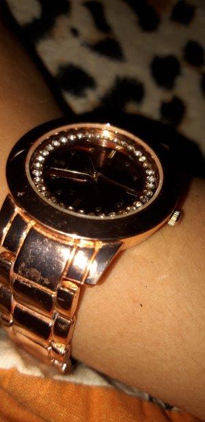Orologio con cinturino di metallo color oro rosa-oro
