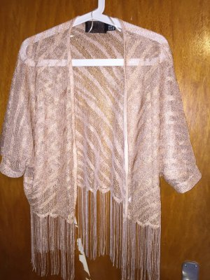 H&M Fringed Vest multicolored