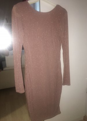 Rose goldenes Glitzer Kleid