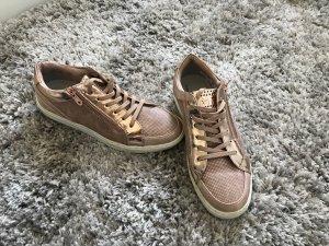 Marco Tozzi Sneaker stringata color oro rosa
