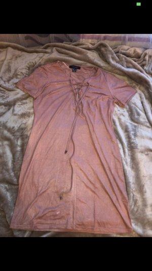 Rosé Kleid in Wildlederoptik