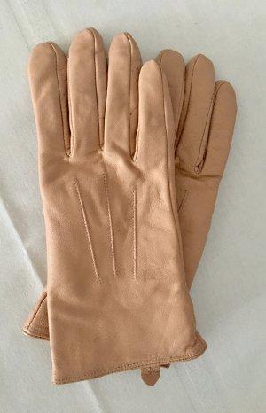 Rose Leder Handschuhe