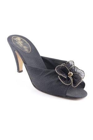 Rose Mary Peeptoe Pumps schwarz-goldfarben Elegant