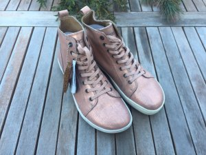 Birkenstock Sneaker alta color oro rosa