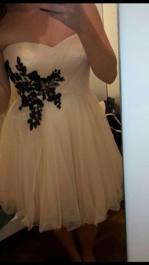rosé-/nudefarbiges Abendkleid