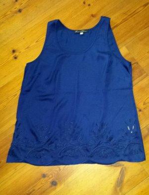 Blusa blu scuro-blu