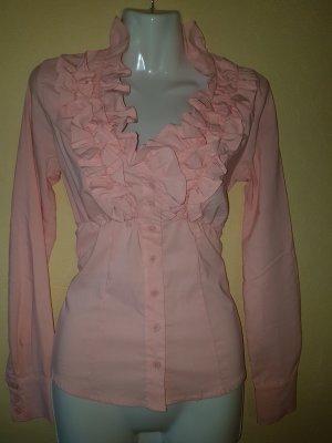 Rose Rosa Bluse von Tally Weijl mit Rüschen im Brustbereich und Gummizug in der Taille