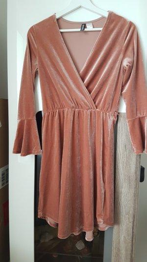 Rose Samt Kleid