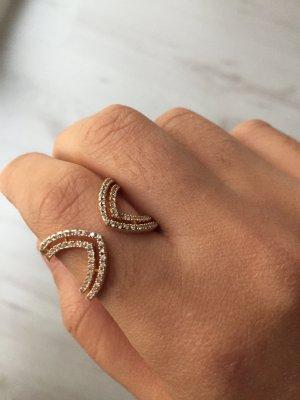 Rosé Silber Ring Größenverstellbar