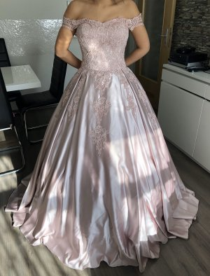 Butik Evening Dress rose-gold-coloured silk
